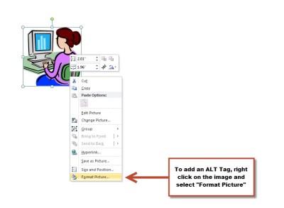 Image Menu in PowerPoint